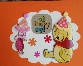 """Pooh and Piglet """"Happy Day!"""" Birthday Card"""