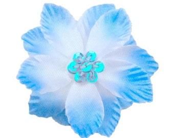 Amanda Blue Silk Flower