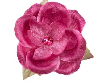 Jessica Wine Silk Flower for Baby Headbands