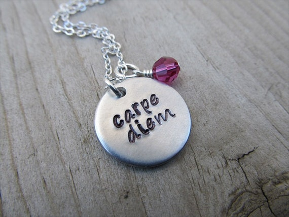 carpe diem inspiration necklace carpe diem with