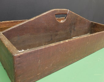 Antique Wood Tool Carry All