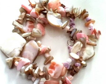 Long shell necklace/ Mediterranean style/ready to ship /gift for her