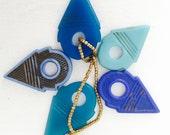 Reserved For Elizabeth: 4 Vintage Glass Tuareg Pendants