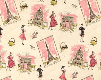Tres Chic by Waverly Pink/Black/Lime Home Dec 1 yard
