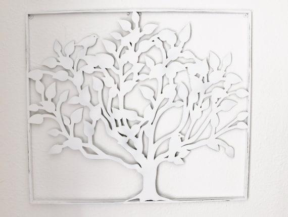 White Tin Wall Decor : Items similar to metal home wall decor white
