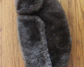 Vintage 50's/60's Brown Lambskin Fur Russian Style Cossack Winter Hat
