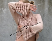 Silk touch...XL/XXL ... Bridal Accessories Shrugs & Boleros beige knit/crochet