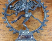 Vintage Dancing Shiva Solid Brass 11 x 10