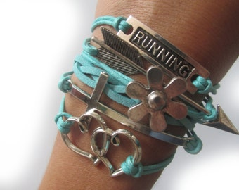 Perfect gifts for runners - Running bracelet with a cross -