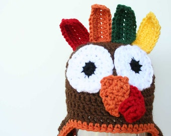 Newborn Turkey Hat, Baby Turkey Hat, Crochet hat for babies, Newborn Thanksgiving hat, Thanksgiving photo prop, newborn photo prop