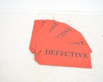 Vintage Defective Tags - Paper Ephemera