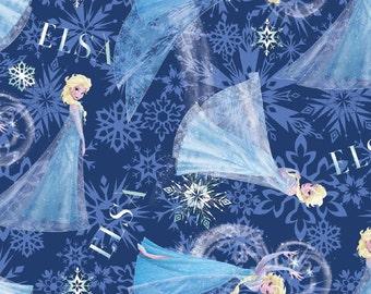 Disney Frozen Elsa Cotton Fabric by Springs Creative, 1 yard