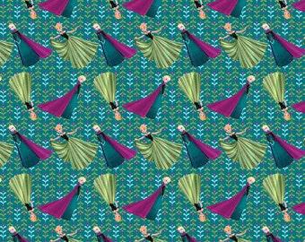 Disney Frozen Coronation Day Cotton Fabric, 1 yard