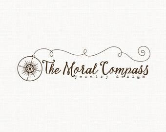 Compass Logo Design jewelry logo design nautical logo bespoke logo deisgn graphic design photography logo premade logo design watermark