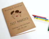 Personalized Kids wedding coloring activity book / Kids wedding activity pack/ kids activity book with crayons - Set of 6