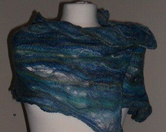 Winding river cobweb felted scarf