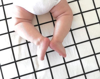 Grid XL Crib Fitted Sheet