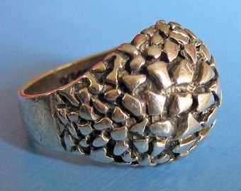 Modernist Sterling Silver Otto Robert Bade Ring Size 5.5