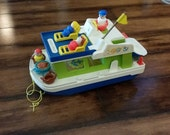 1972 Fisher-Price Houseboat Boat with Accessories