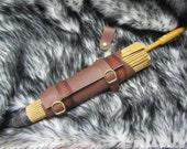 Customizable Adjustable Leather Steampunk Parasol Holder, LARP, SCA, Costume, Ren Faire