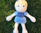 Cinderella Inspired Doll/ Soft Toy Doll/ Plush Toy/ Stuffed Toy Doll/ Amigurumi Doll/ Baby Doll-  MADE TO ORDER