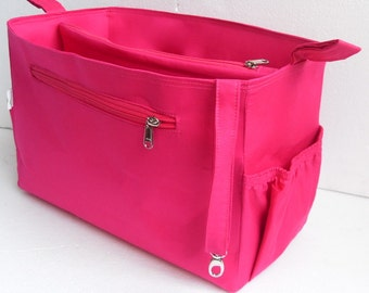 Extra Taller Purse organizer for Louis Vuitton Neverful GM in Pink fabric