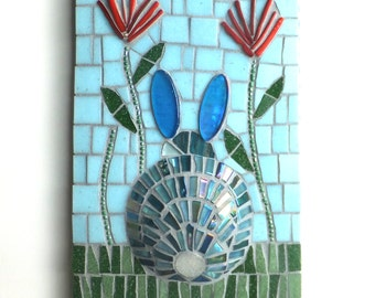 Mosaic art wall decor, Li'l Rabbit Mosaic, Mosaic home decor
