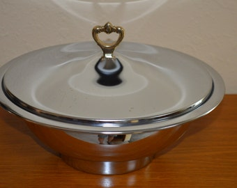 Kromex Covered Serving Bowl