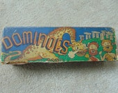 Vintage boxed dominoes made in England