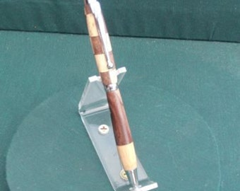Handcrafted wooden twist stylus-pen, NC Oak and NC Walnut