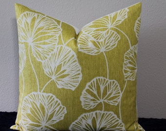 "Thom Filicia for Kravet - Floral Sandy Pond in Citrus - 18"", 20"" or 22"" Square Decorative Pillow Cover"