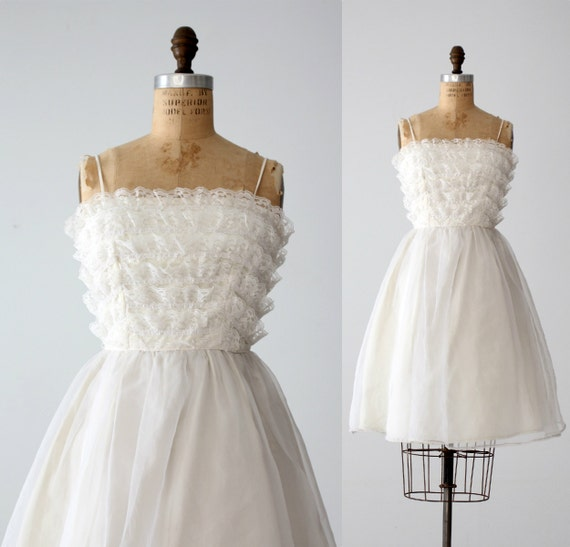 Saks Wedding Gowns: Vintage 60s Saks Fifth Avenue White Wedding Dress By