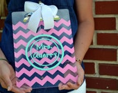 Monogrammed Clipboard - Acrylic - Teacher Appreciation Gift - Chevron