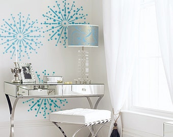 Firework burst Wall Stencil - DIY Home Decor Wall art - Three sizes