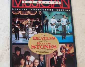 Vintage Musician Magazine Special Collectors Edition 1988 The Beatles and The Rolling Stones Classic Interviews