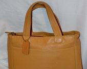 Coach Bag~ Coach~ Leather Bag~Tan Bleaker Bag 9303  Handbag  Bonnie Cashin Hang Tag