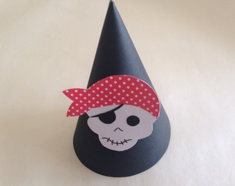 PIRATE Party Hats (Set of 6) -- Ships, gold, and pirates!  Aargh!