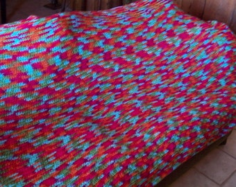 Fruit Punch Crochet Afghan