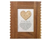 Your Wedding Vow, Personalized 5th Anniversary gift for him or her, 1st Anniversary romantic gift, Wood anniversary