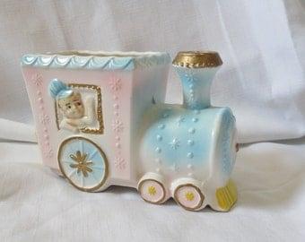 Vintage Enesco Choo Choo Train Baby Planter