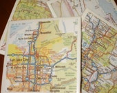 Map Coasters - Utah Map Coasters...Featuring Salt Lake City...Full Cork Bottoms...For Drinks and Candles