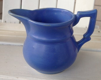 Blue Ceramic Creamer