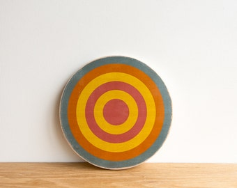 Target Wall Art, Circle Wall Decor, Target Art, Bull's Eye Art, Archery Target Art, Target Wall Hanging,Aqua/Orange/Yellow/Pink,colorway #21