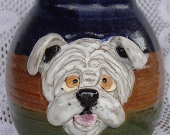 Bull Dog Treat Jar