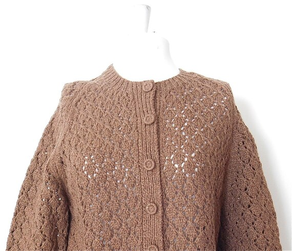 Chocolate Brown Cardigan on oscar de la renta sweater men s brown
