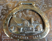 Vintage English Tintagel Post Office horse brass harness martingale tack circa 1940's / English Shop