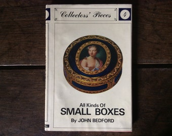 Vintage English book All Kinds Of Small Boxes by John Bedford antique  antiques book printed 1964 / English Shop
