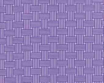 Bandana Happy Purple Basket Weave designed by Me & My Sisters Designs for Moda