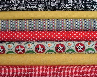 Sodalicious Fat Quarter Bundle of 7 by Emily Herrick for Michael Miller
