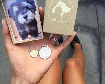 SilhouPETte Custom Pet ID Tag - Sterling Silver